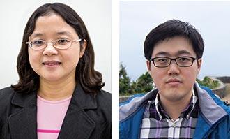Dr. Wei Xu (left) and new Komen Fellow Dr. Eui-Jun Kim (right).