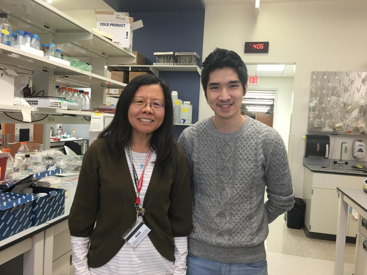 Dr. Yongna Xing with lead author Cheng-Guo Wu