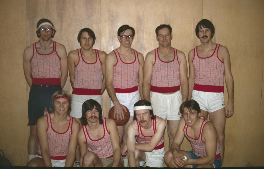 Basketball team in uniform