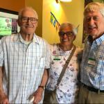 Don Fechner, Karen Schwarz, and Richard Burgess at Don's 90th birthday celebration on Sunday, August 18, 2019.